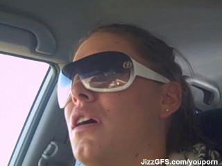 she swallow in car part-2