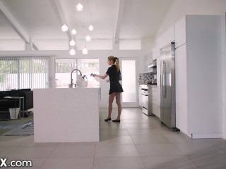 EroticaX – Housekeeper Fucked Hard Over Kitchen Counter By Married Man