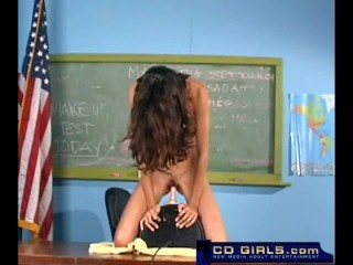 Heather rides the sybian