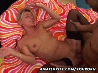 Mature amateur wife sucks and fucks a black cock
