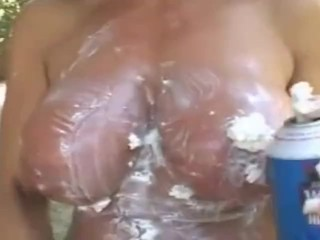 Holly Body in Wet and Messy Big Boobs
