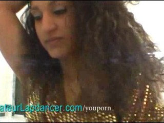 Exotic chick lapdances and gives BJ