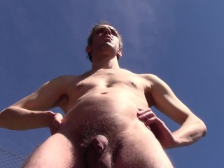 PISS AND CUM OUTDOOR IN PUBLIC, FROM SWITZERLAND