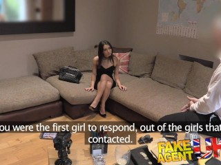 FakeAgentUK Cute Italian takes a fruity anal fucking on the casting couch