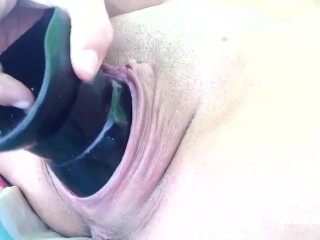 Padma Fucks Herself With HUGE Dildo And Huge Pussy Plug! EXTREME GAPE!