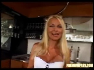Tight Blond Nikki teases and blows