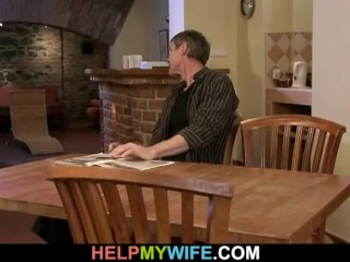 He fucks his hot young wife