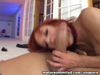 Red Milf get fuck in her big hole……