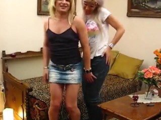 2 Hungarian shemales fuck each other