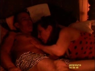 sexy wife sucks hubbies cock then gets side fucked