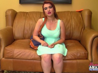 18 year old Lacy does it all on casting couch
