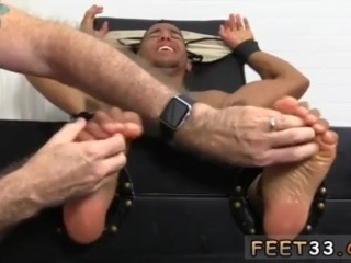 New sexy foot fisting gay Mikey Tickle d In The Tickle Chair