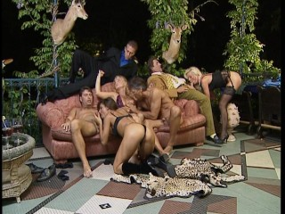 Fake deers, and leopard skin watch wild orgy pt 1/2