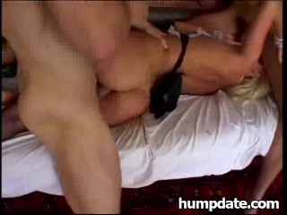Sandy Saint gets hard double penetrated