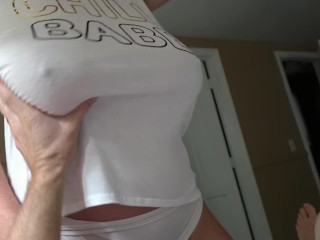 Titty Fucking The Wife's Huge Natural Tits