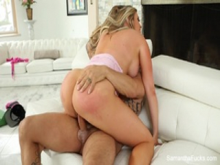 Samantha Saint gets a steamy workout from her trainer