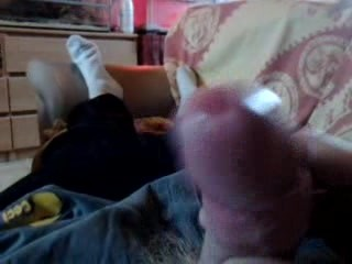 young man handjob and cumshot on objective