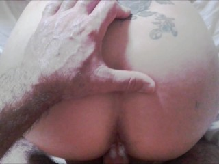 Hubby fucks Milf with another mans cum filled pussy as revenge