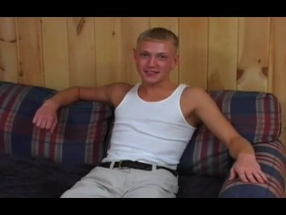 Blonde Twink's First Time On Camera – Cobra