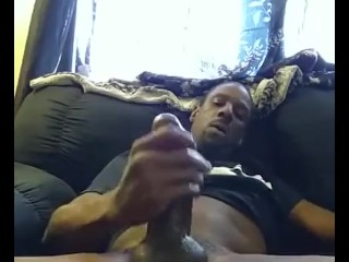 Focused On His Cock