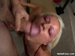 More jolly fun with Jasmine Jolie as she faces a white hot cum flood