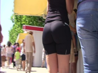 candid big booty in lycra shorts from GLUTEUS DIVINUS