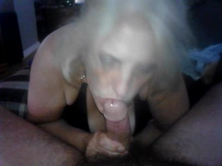 My Slut Sucking me after fucking 2 Big Black Cocks at 2 different places