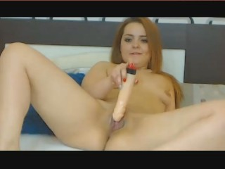 Lysa play hard with a big dildo.