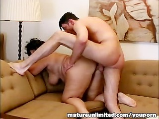 Old hairy bag get pounded.