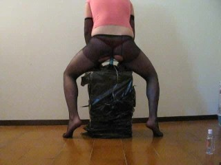 very sexy trans shemale in black pantyhose