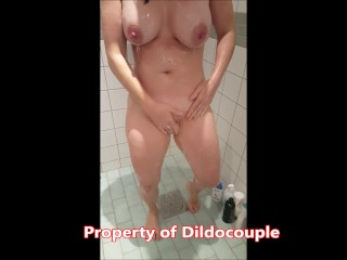 Swedish milf taking a shower and just needs to take a piss