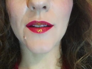 JOI, cum to my red-golden lips.