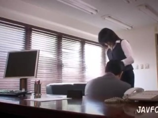 Japanese MILF in trouble! humiliation skirt sliced & butt exposed at work !