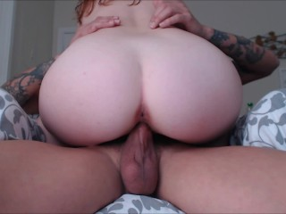 RED HEAD EMMARAE RIDING DICK AND DRIPPING CREAM PIES COMPILATION