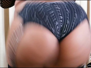 big butt bbw cute girl plays with a dukes doll