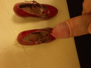 Cum on Stolen neighborhood Red High heels