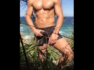 Beating off at the beach