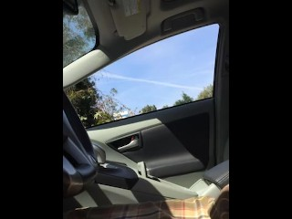 jerking off in car while older man watches