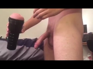 Big Cock's First Time with a Fleshlight