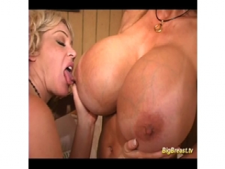 Huge breasts lesbian babes sex licking pussy and squiz