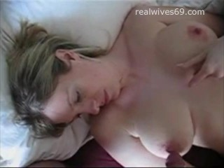 Big Boobed Amateur MILF playing with Cock and Receives Cumshot