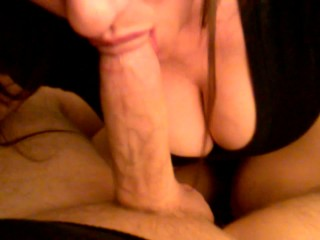 Wife Gets Big Mouthful of Cum