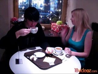 18videoz – No cream in a cafe shop? C mon, I got some at home!
