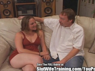 Dumpy Young Ball Gobbling Wife Fucked Hard