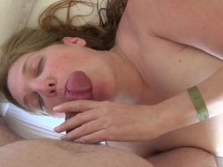 Cum from my pussy to my tits, hot blonde MILF
