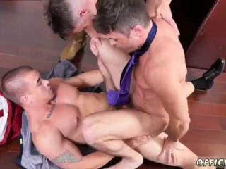 Straight guys caught jacking off naked gay Lance's Big Birthday Surprise