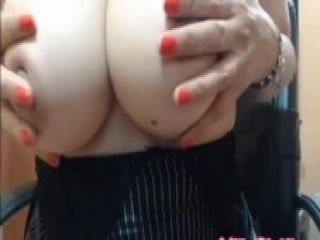 PART1 Milf playing with beautiful tits – PART 2 at milkybigtits.com