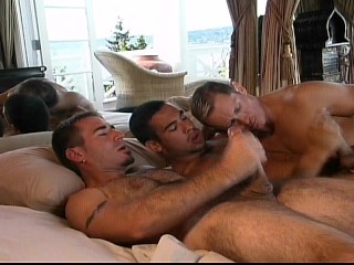 Three guys getting some ass