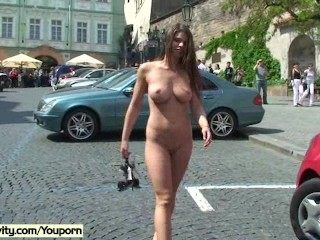 Hot Girls Shows Their Naked Bodies On Public Streets