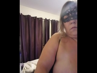 BBW Wife sends hubby a video at work.